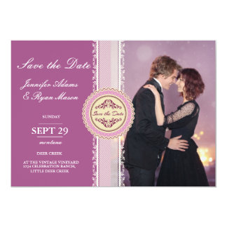 Loving couple dancing in the night city/pink theme card