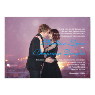 Loving couple dancing in the night city/Wedding 13 Cm X 18 Cm Invitation Card