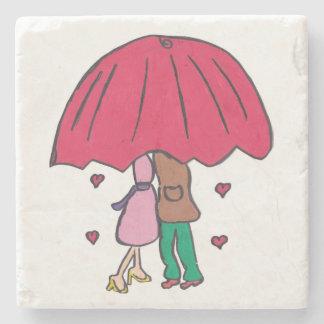 Loving Couple Stone Coaster