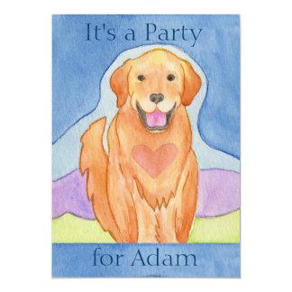Loving Dog birthday party invitation