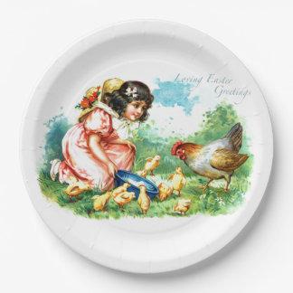 Loving Easter Greetings 9 Inch Paper Plate