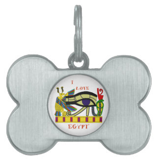 Loving Egypt Pet Name Tag