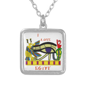 Loving Egypt Silver Plated Necklace