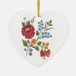 loving flower christmas ornament
