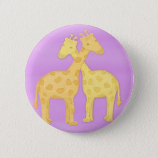 Loving Giraffes 6 Cm Round Badge