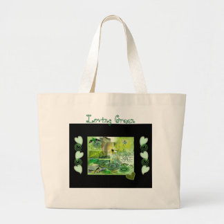 """LOVING GREEN"" JUMBO TOTE BAG"