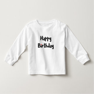 Loving Happy Birthday Text Red Heart Celebration Toddler T-Shirt