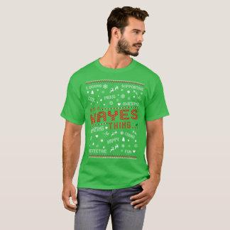 Loving Happy Hayes Christmas Ugly Sweater Tshirt
