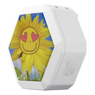 Loving,happy,sunflower,colorful,flower,animated White Boombot Rex Bluetooth Speaker