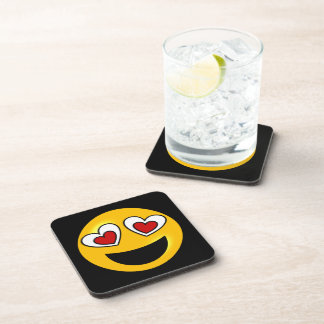 Loving Heart Emoji Drink Coaster