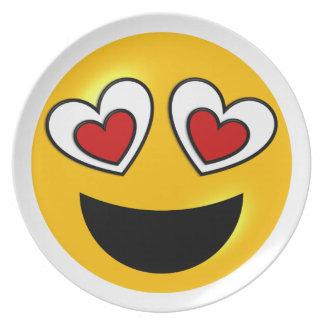 Loving Heart Emoji Party Plates