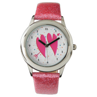 LOVING  HEARTS CROSSED BY AN ARROW FOREVER Watch