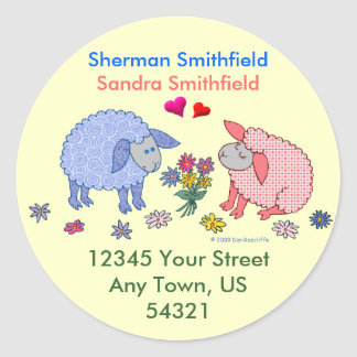 Loving Lambs Classic Round Sticker