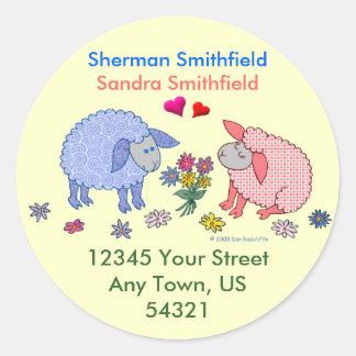 Loving Lambs Round Sticker