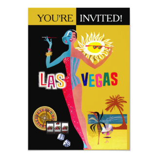 Loving Las Vegas Vintage Surprise Birthday Card