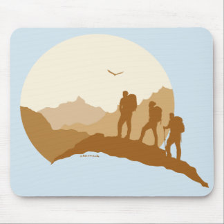 Loving Life Outdoor Hiking with Friends Mousepad