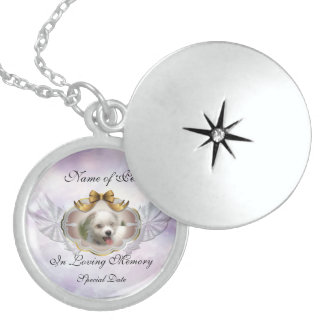 Loving Memory Pet Sterling Silver Locket Necklace