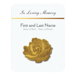 Loving Memory Vintage Rose 1 Funeral Announcement