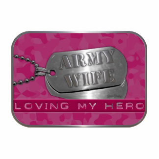 Loving My Hero Army Wife Photo Sculpture Key Ring