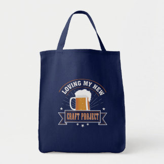 Loving New Project Craft Beer Drinking Tote Bag