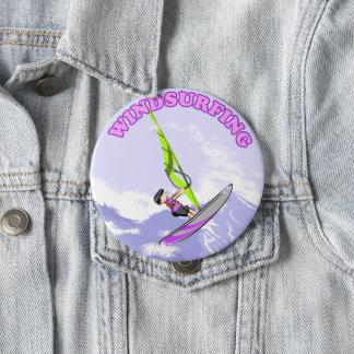 Loving of windsurf 10 cm round badge
