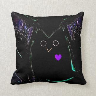 """Loving Owl"" Polyester 16"" x 16"" Throw Pillow"
