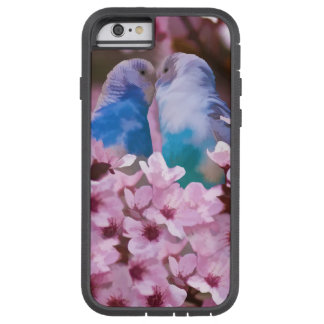 Loving Parakeets and Pink Flowers Tough Xtreme iPhone 6 Case