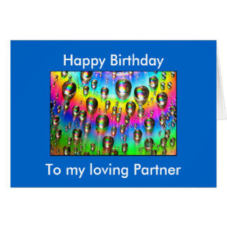 Loving Partner Birthday Card