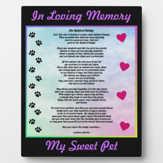 Loving Pet Memorial Plaque