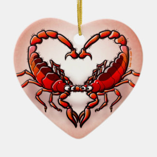 Loving Scorpions Ceramic Heart Decoration