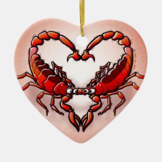 Loving Scorpions Ceramic Ornament