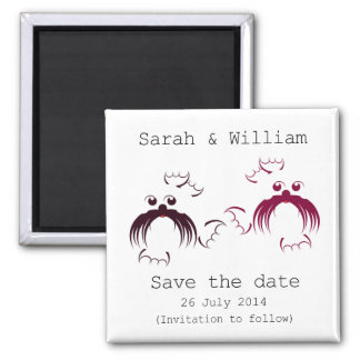 Loving seals Save the date Square Magnet