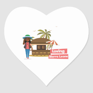 Loving Sierra Leone Heart Stickers