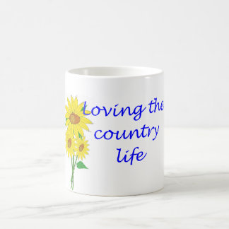 Loving the country life coffee mug