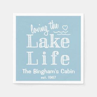 Loving the Lake Life Customised Paper Serviettes