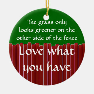 Loving What You Have Double-Sided Ceramic Round Christmas Ornament