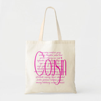 Loving Words for a Cousin Tote Bag