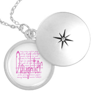 Loving Words for a Daughter Round Locket Necklace