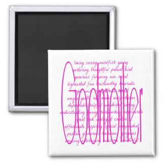 Loving Words for a Godmother Square Magnet