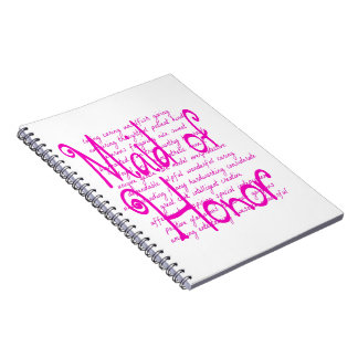 Loving Words for a Maid of Honor Note Book