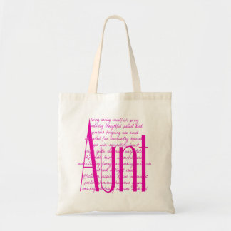 Loving Words for Aunt Budget Tote Bag