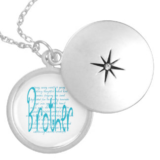 Loving Words for Brother Silver Plated Necklace