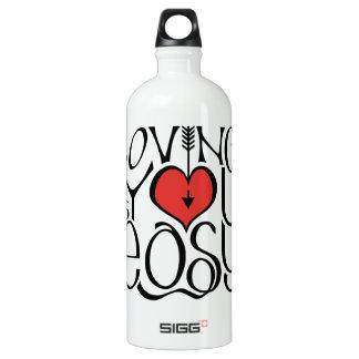 Loving You black red Custom Traveller Water Bottle