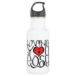 Loving You black red Water Bottle