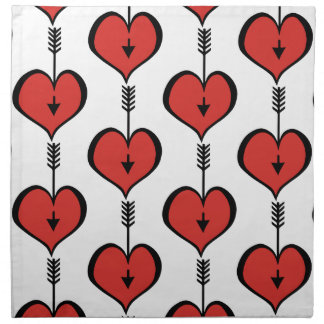 Loving You Heart red Cloth Napkins (set of 4)