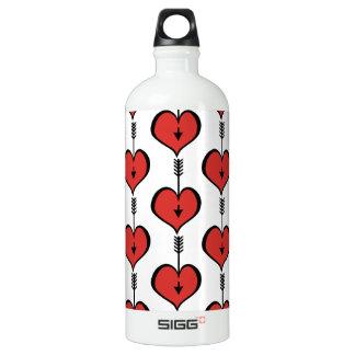 Loving You Heart red Traveller Water Bottle