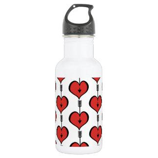 Loving You Heart red Water Bottle