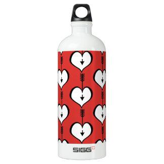 Loving You Heart white Traveller Water Bottle