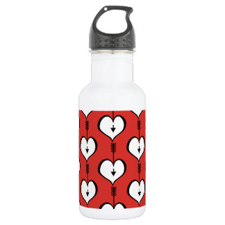 Loving You Heart white Water Bottle