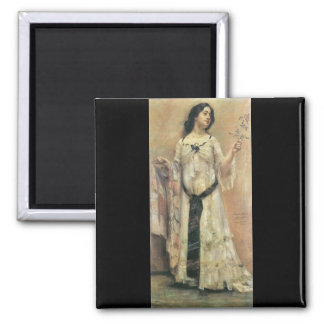 Lovis Corinth - Portrait of Charlotte Berend in a Magnets